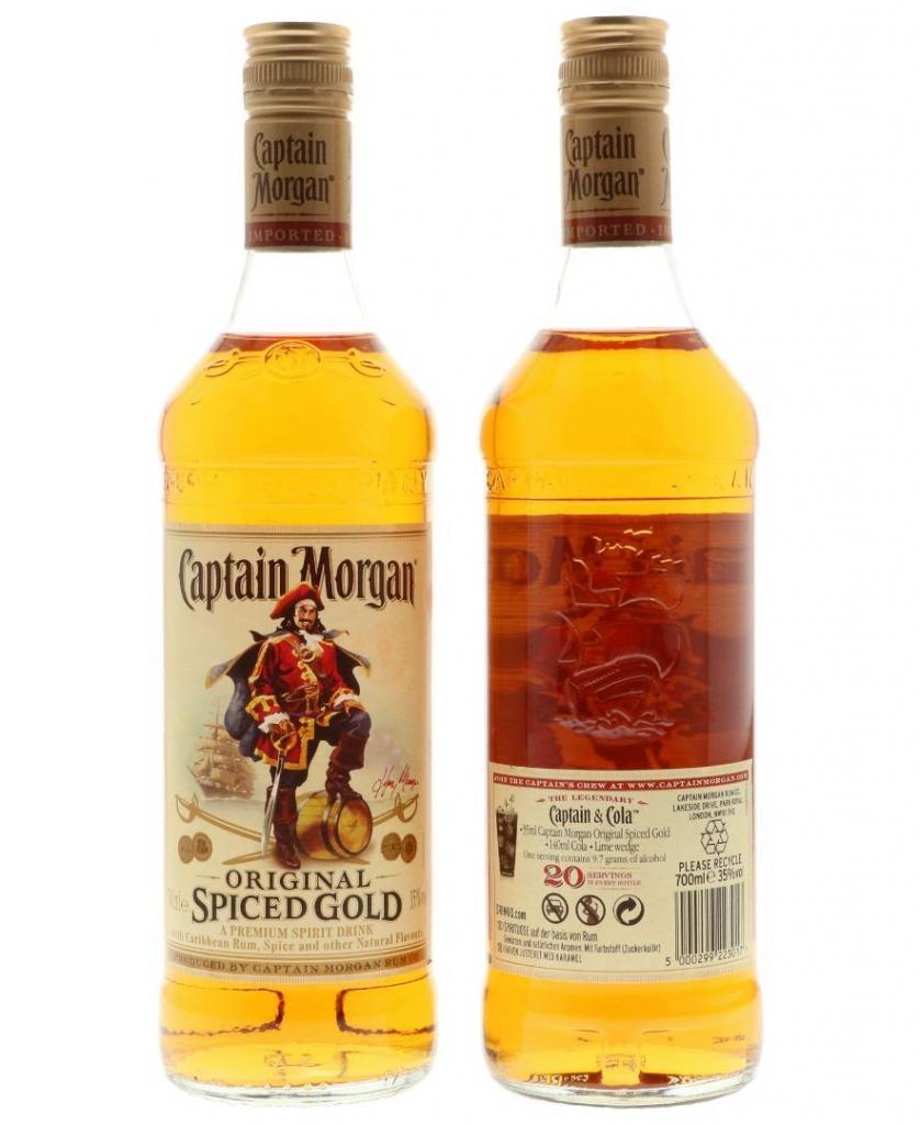 Captain Morgan Spiced Gold Luxemburg Golden Spirits Shop