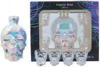 Crystal Head Aurora + 4 Shot Glasses + Gb 70cl Vol 40%