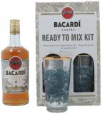 Bacardi Cuatro Anos Ready To Mix Kit + 4 Verres 140cl Vol 40%