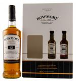 Bowmore 12 Year Old Gift Pack + 2 Miniatures 80cl Vol 40.11%